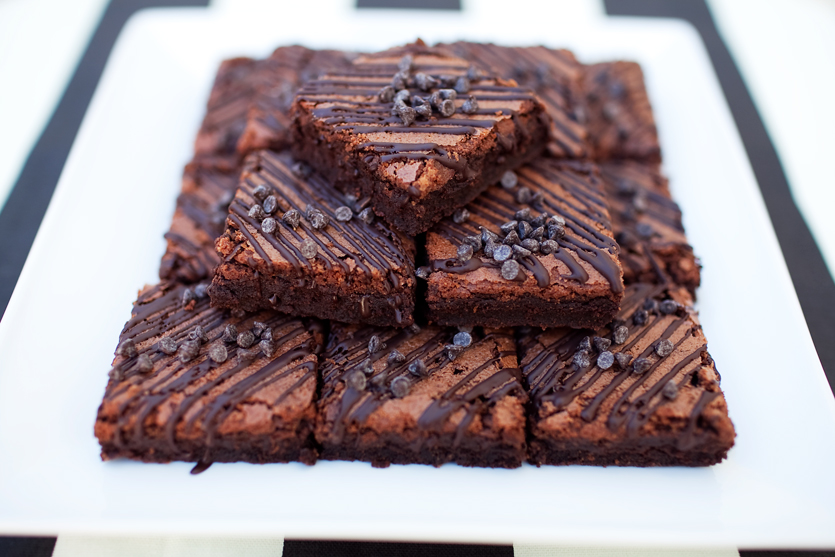 BROWNIE BARS          $1.75/each  rich, fudgy brownies packed with chocolate flavor, drizzled with dark chocolate and topped with mini chocolate chips.