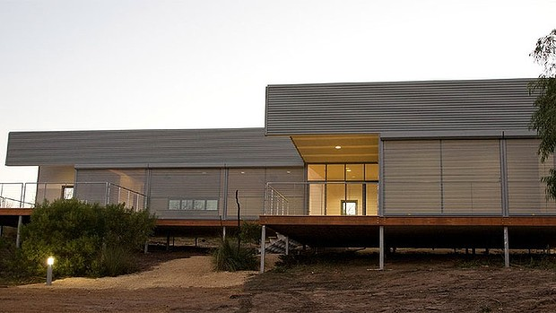 Hollingworth House at Point Henry, Bremer Bay, Western Australia.   Photo: Andrew Halsall    Read more:  http://www.watoday.com.au/wa-news/was-bushfireproof-housing-project-thats-designed-to-be-burnt-20131028-2wc3l.html#ixzz2qujU5HUM