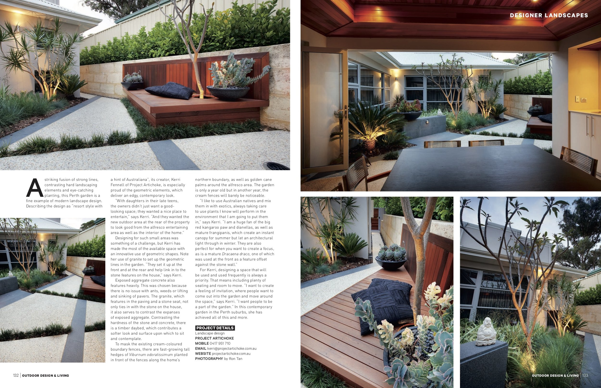 Sorrento Project from Outdoor Design and Living magazine
