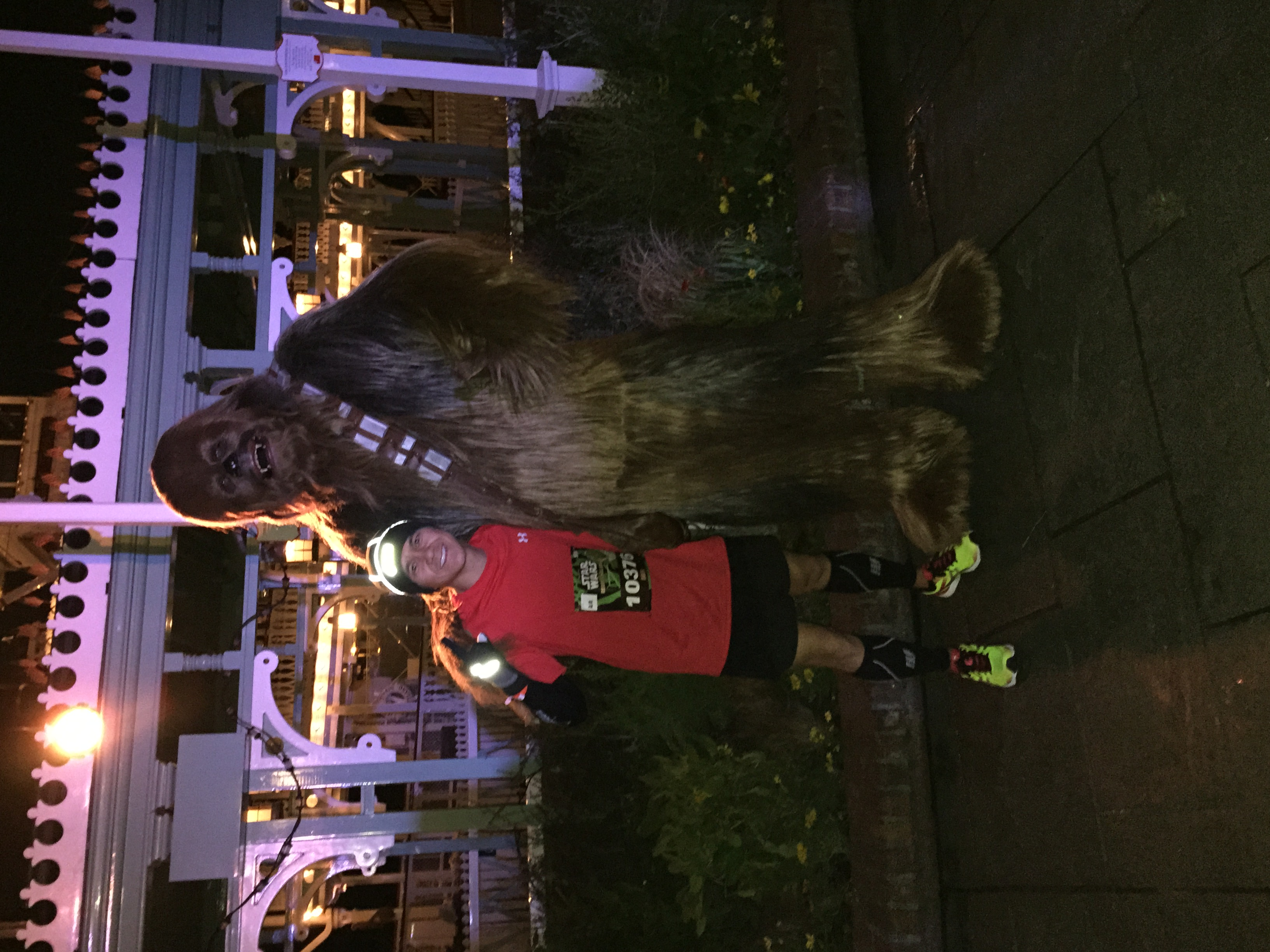 I made sure to catch a picture with Chewie! I was in the front pack so the line wasn't long at all.