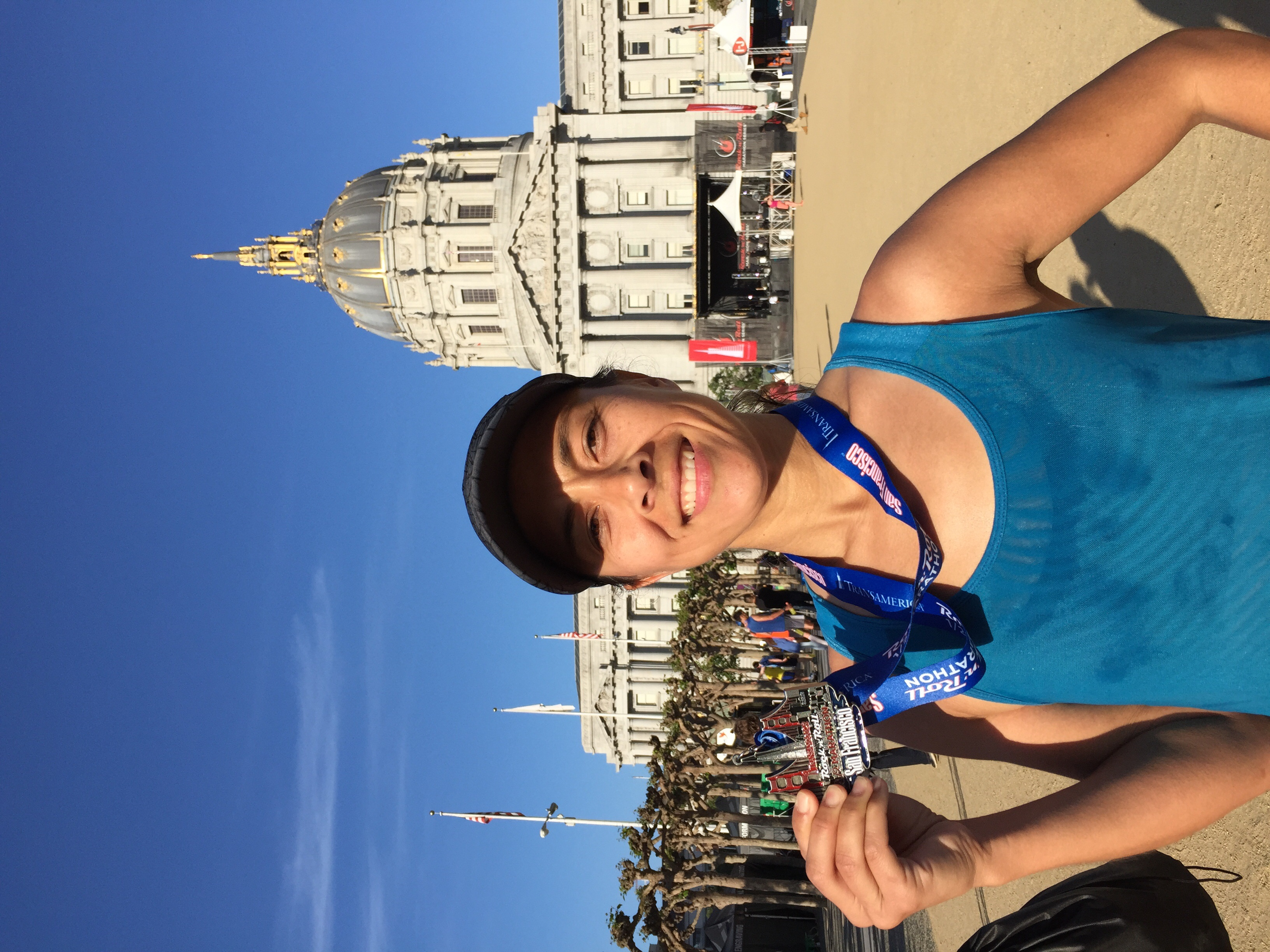 Finisher! I pushed my fears of San Francisco hills aside and conquered each one...with a smile