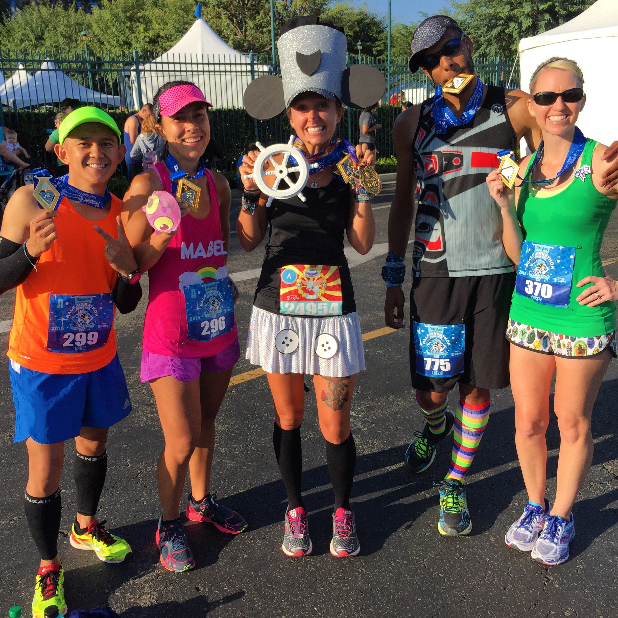 It's  @caseyruns  and some of the  @werunsocial  after killing it on the Disneyland Half Marathon course!