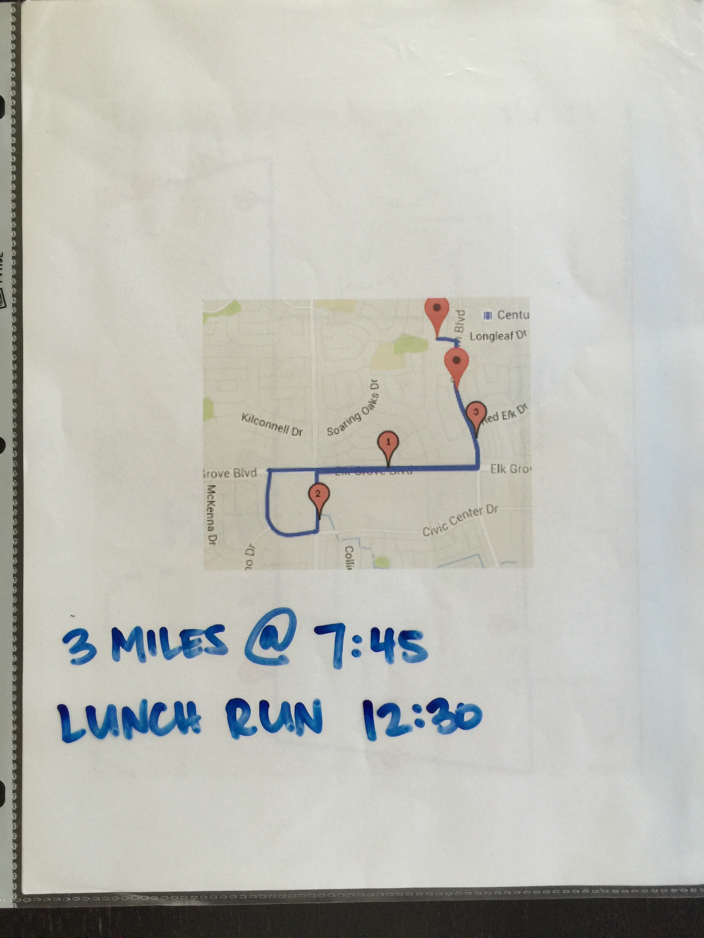 Easy to print out route and put them in a sheet protector. Dry erase marker makes it reuseable