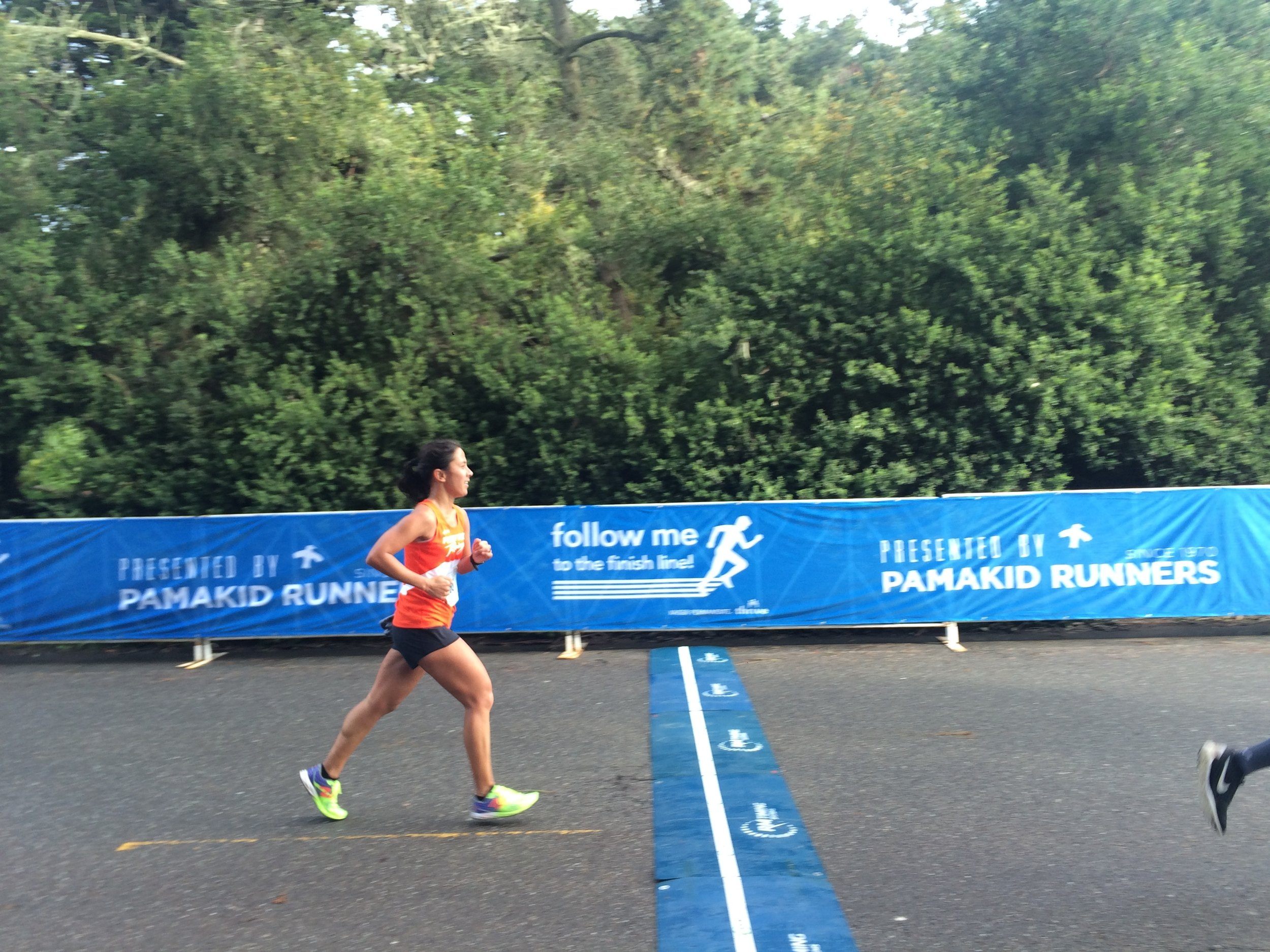 Thanks  Mike  for capturing me finishing. Never have I loved a finish line so much. Lol