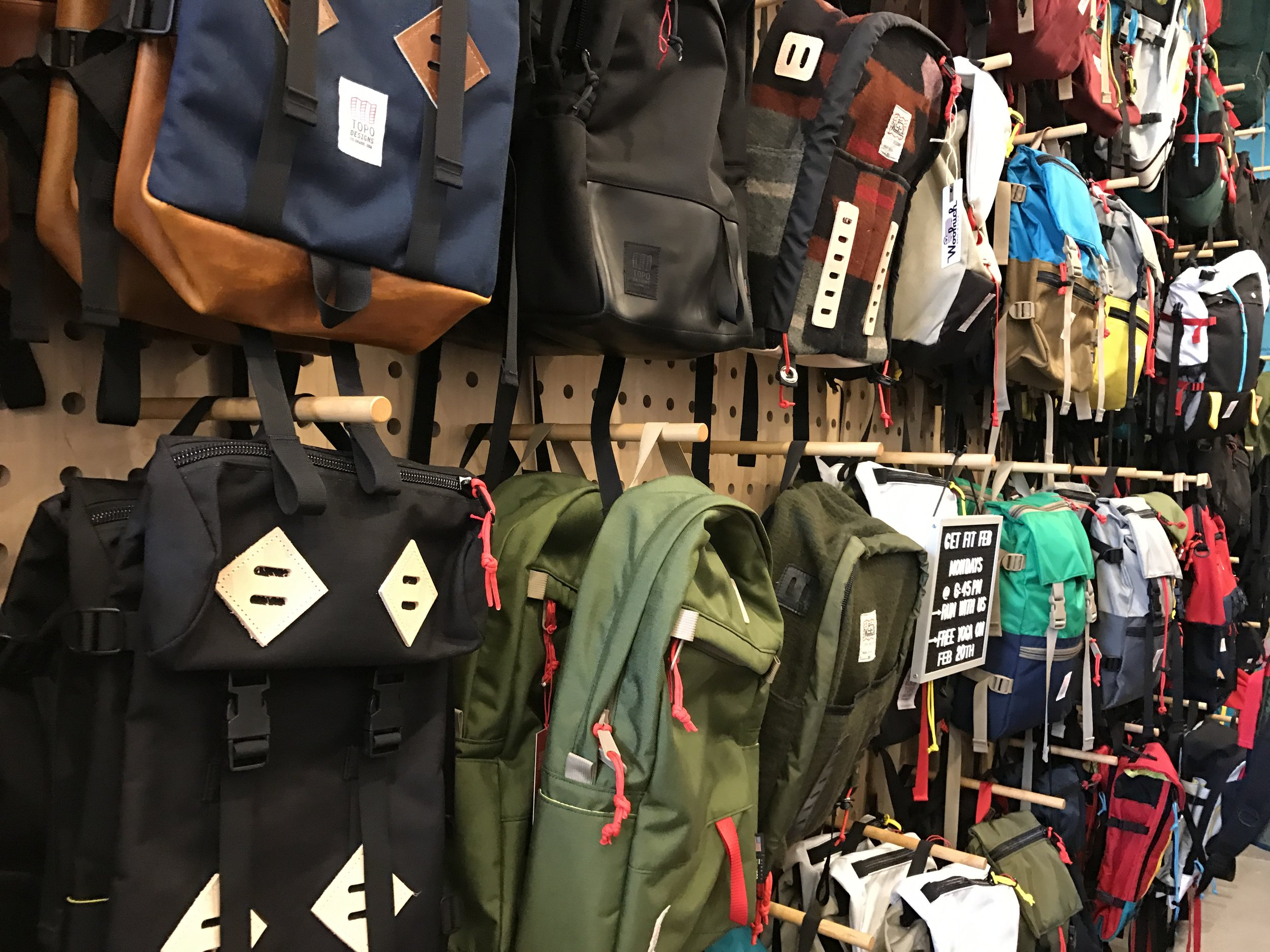 Got to go to the  Topo  store! We have a bag obsession