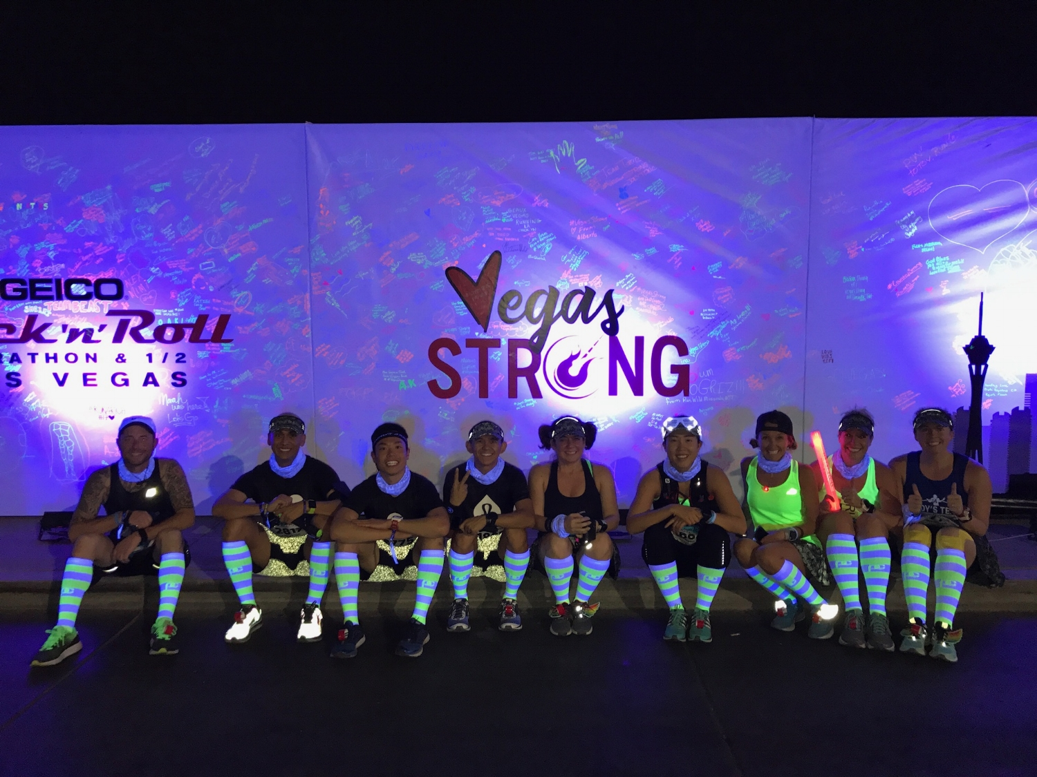 We had to show the  @ProCompression  sock in the blacklight! So cool!