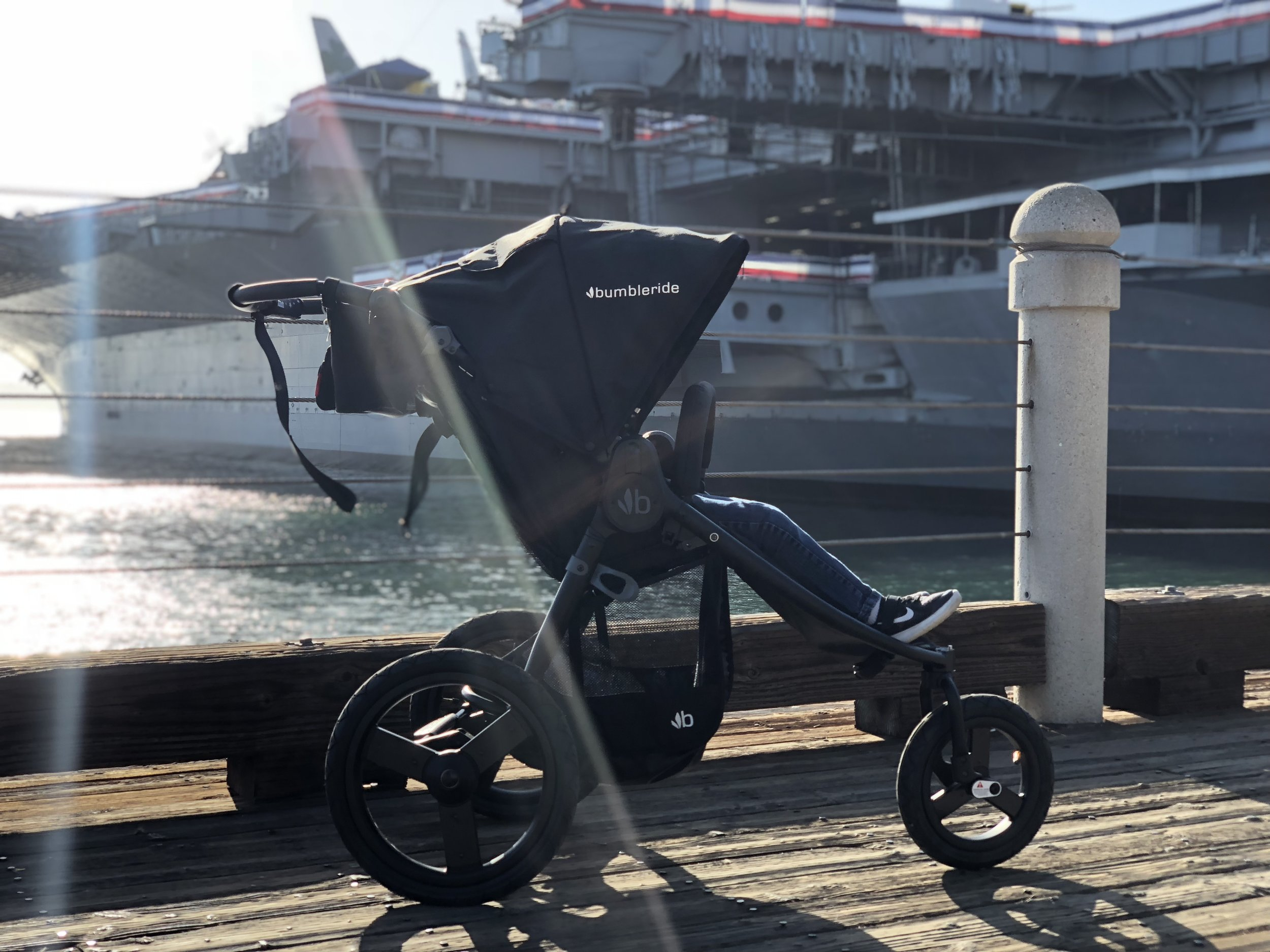 Eco friendly fabrics, multiple front wheel options, affordable accessories and a breeze to use makes this stroller a winner.