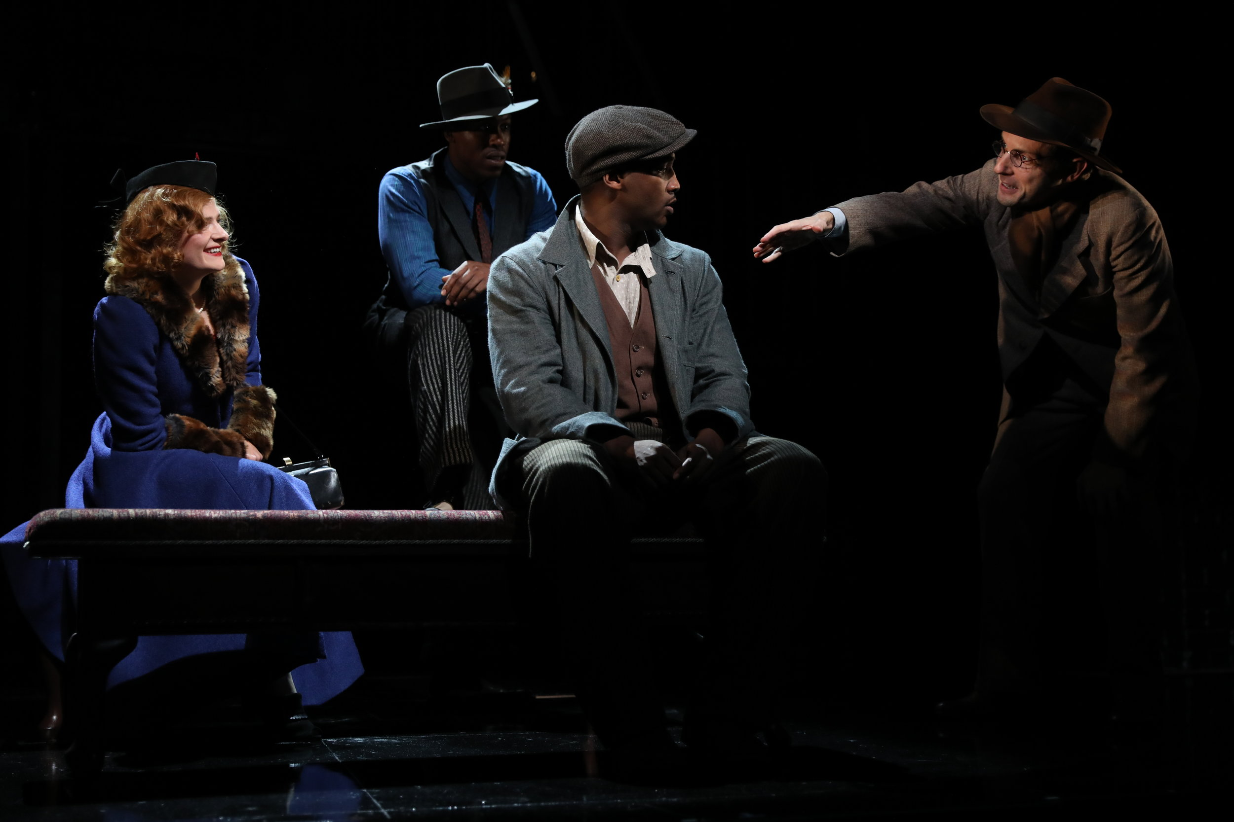 """Native Son - """"Costumes by Katie Touart that magically fit all the shifting moods of the show.""""- Hartford Courant"""