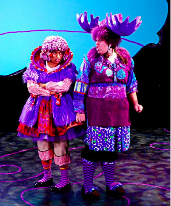 """Harold and The Purple Crayon - """"A riot of colors thanks to Katie Touart whose detailed, gorgeous costumes light up the stage and keep the ensemble busy with changeovers.""""- DC Theatre Scene"""
