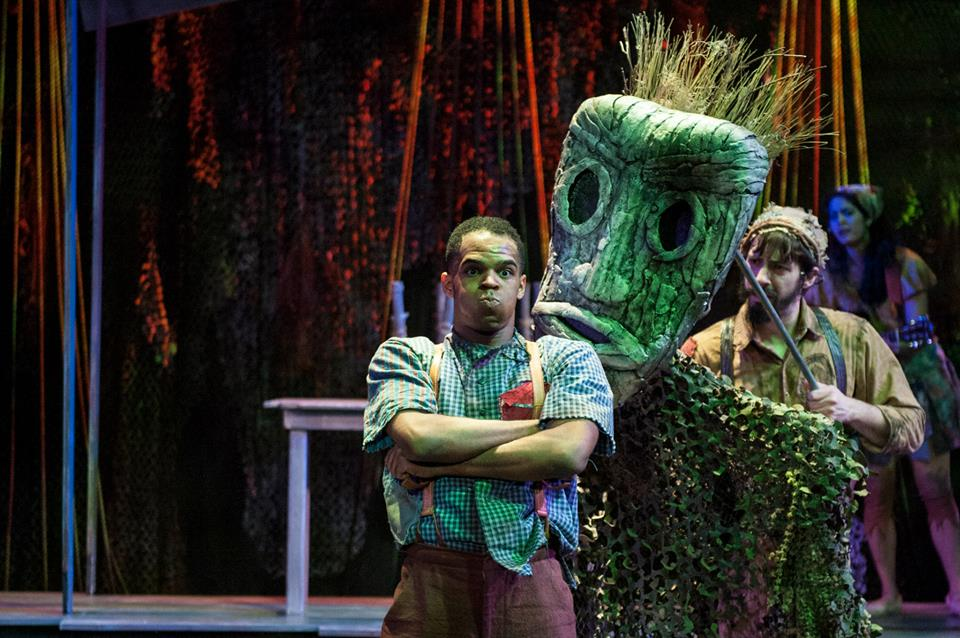 """Wiley and the Hairy Man - """"Katie Touart uses the colors and textures of the swamp to brilliantly reinforce the look of this imaginative story.""""- MD Theatre Guide"""