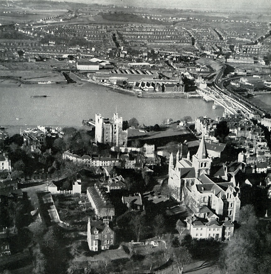 Strood and Rochester, looking West