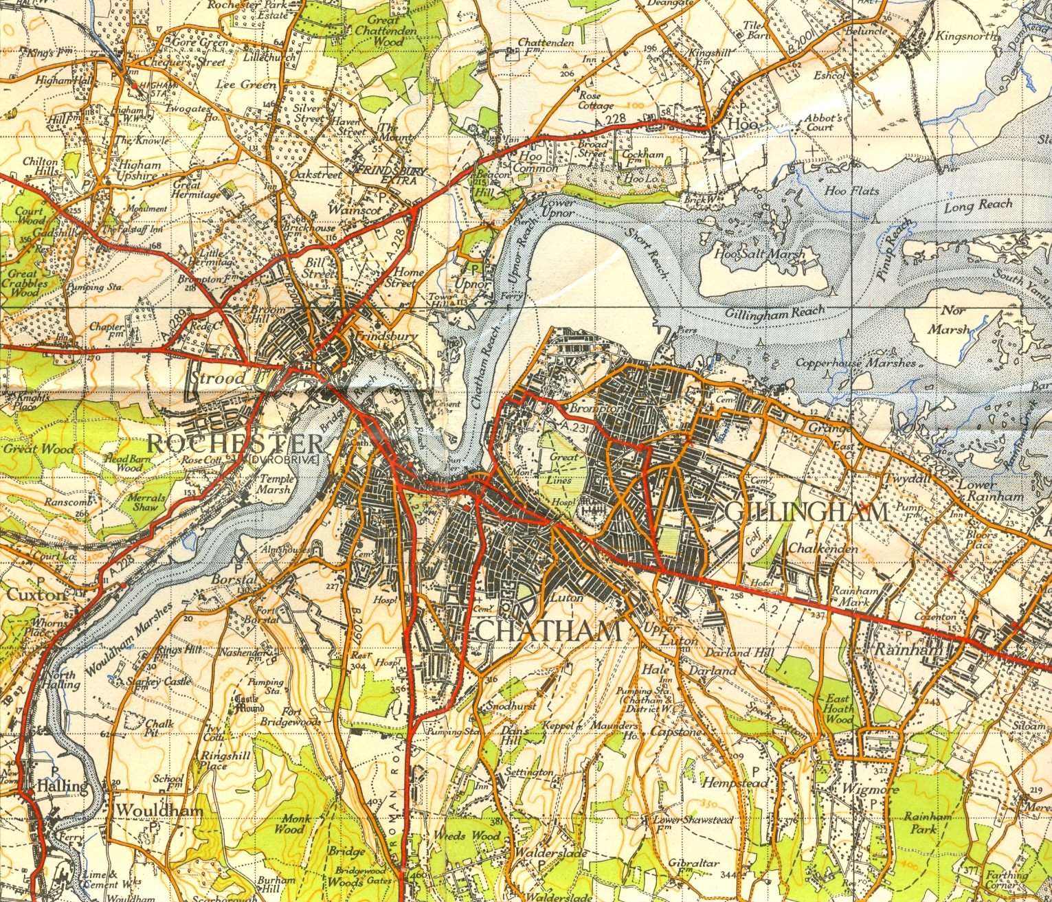 This map dates from 1940 - the naval Dockyard is blanked out.