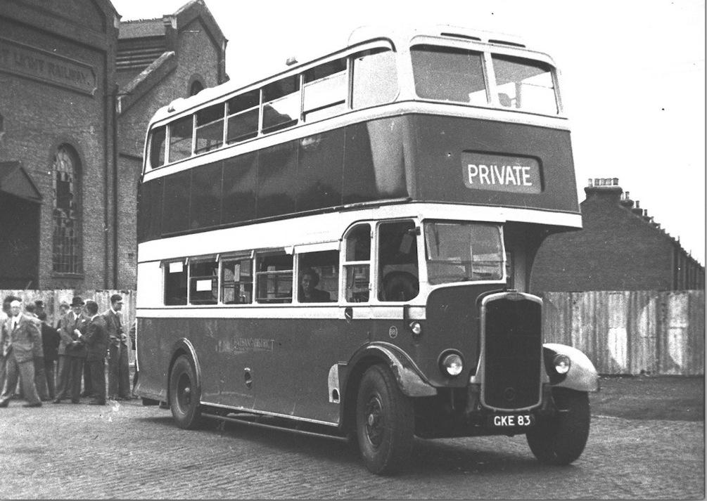 1939 Bristol GKE 83 at Luton depot.