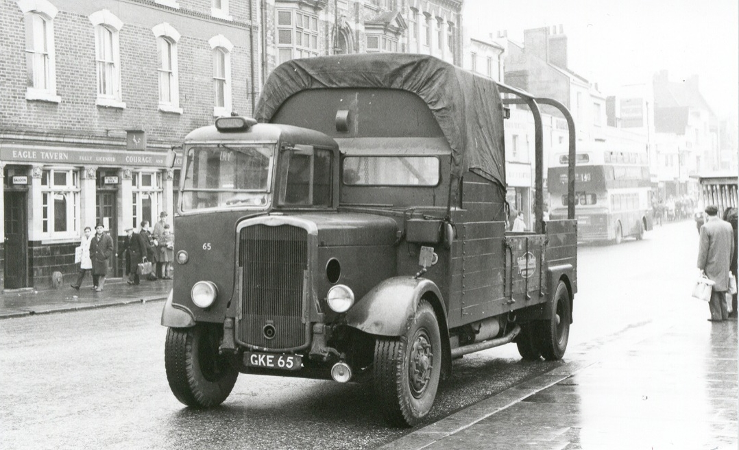 1939 Bristol GKE 65 as a Lorry with M&D in the early 1960s.