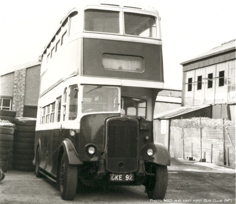 Sister vehicle GKE 92 in typical as-withdrawn condition awaiting disposal.