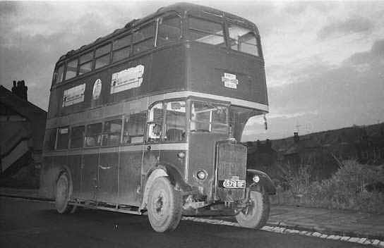 Back in Medway after collection from Mountain Transport. The bus is in the Contractor's dark red and grey colours. December 1960.