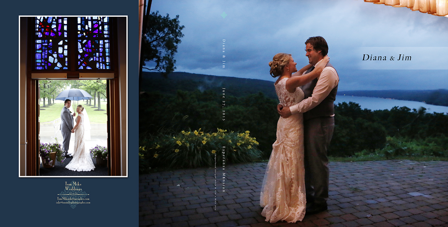 Diana & Jim, Esperanza Mansion.   The very classic 10x10 hard cover coffee table book.  Available in two separate packages.