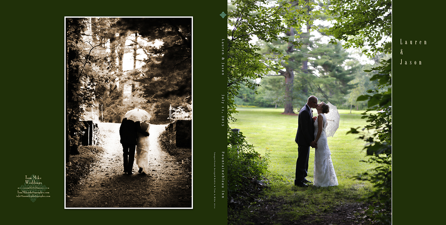 Lauren & Jason, Fontainebleau Inn.  The always cool 30 page 10x10 custom designed book.
