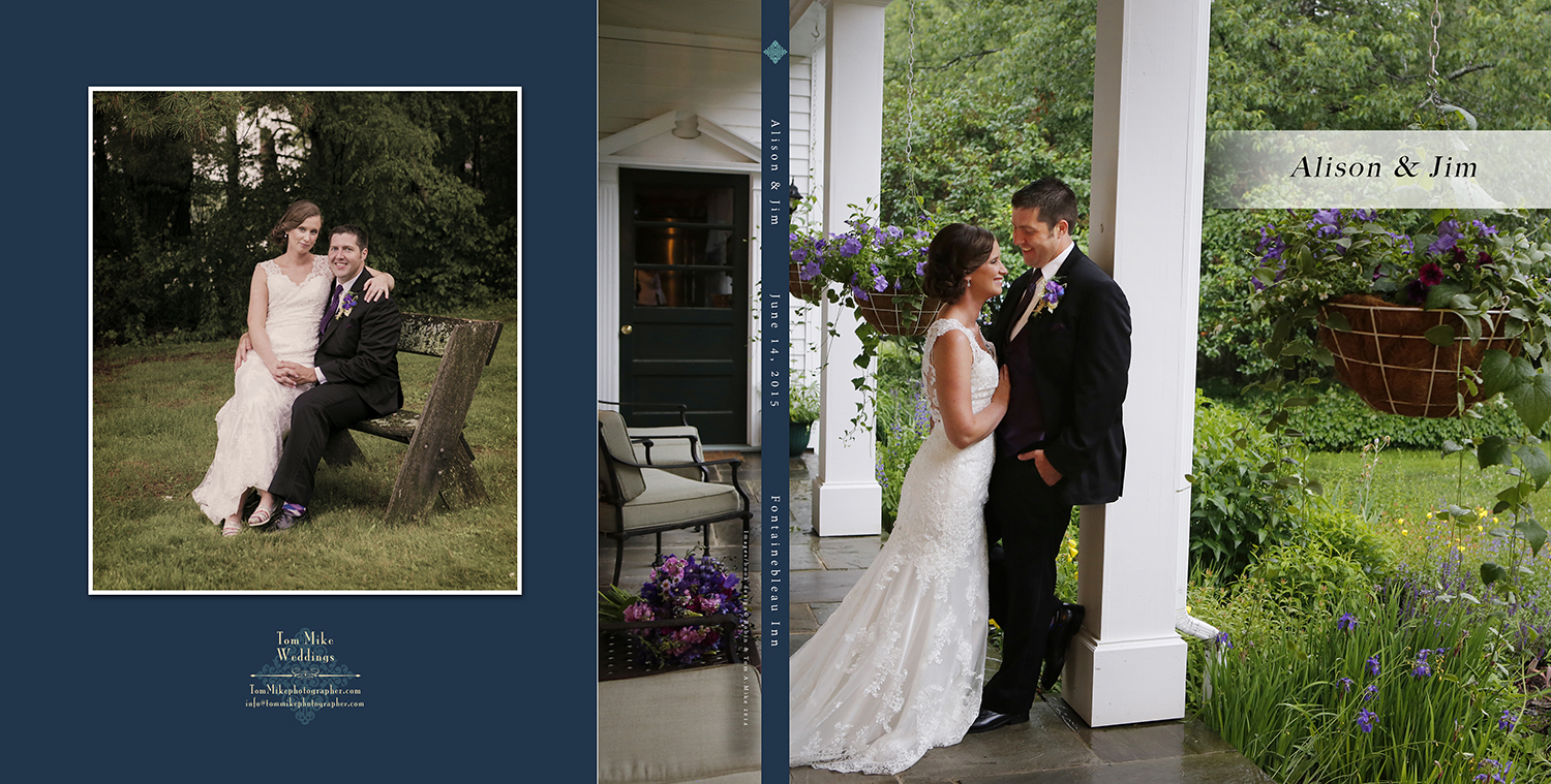 Alison & Jim, Fontainebleau Inn.  Our custom books are included in our packages.  Fun, fun, fun!