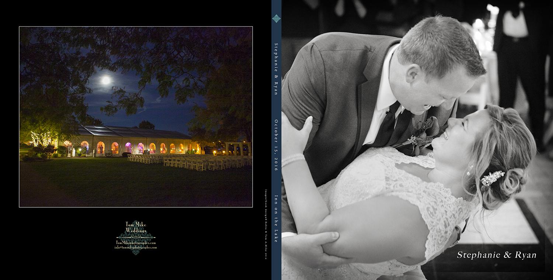 Inn on the Lake. Stephanie & Ryan's 10x10 hard cover book. Custom designed by us :)
