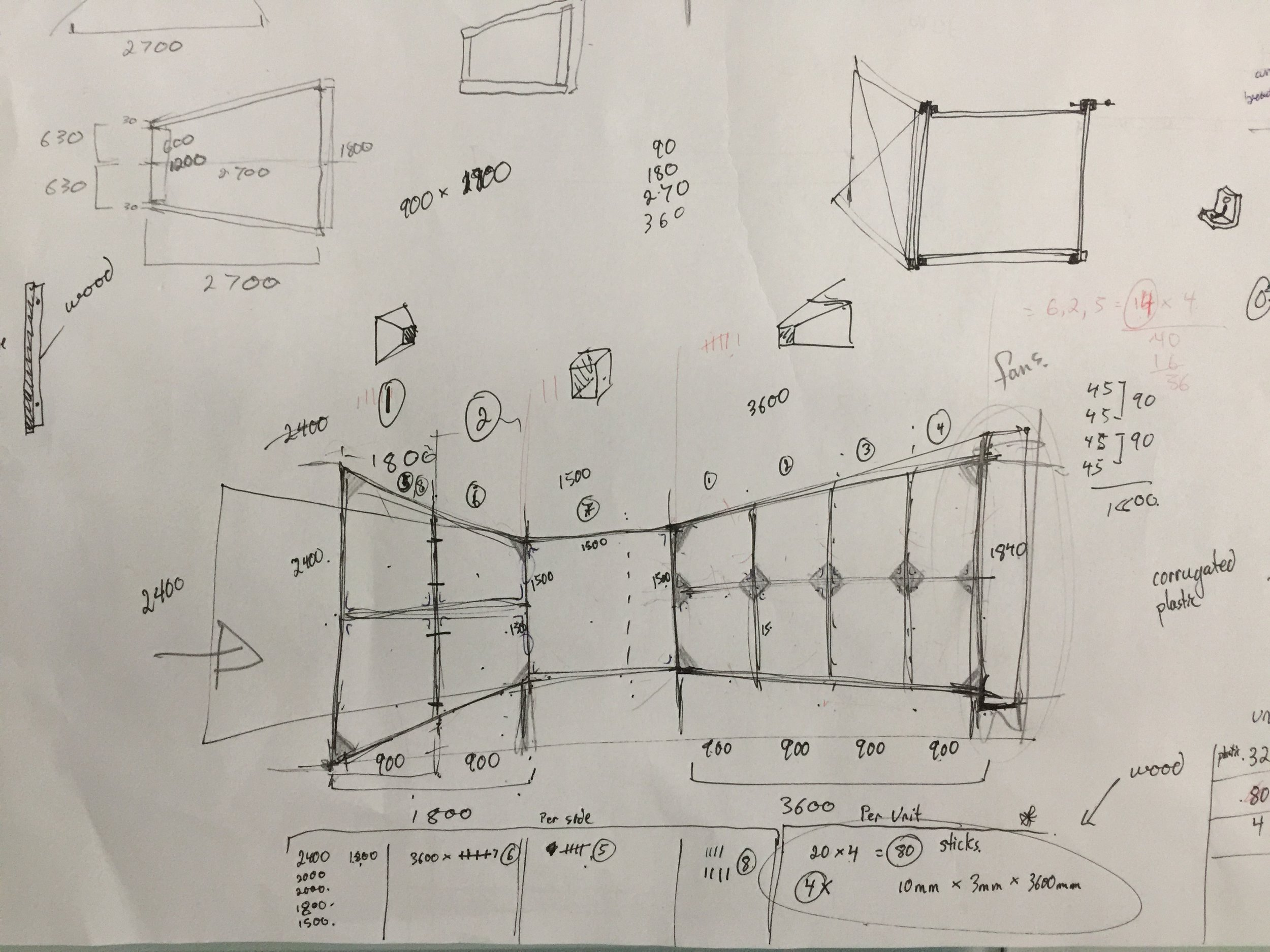 rough planning drawings