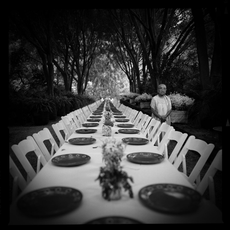 Woman preparing a wedding table Amatlán, Mexico, 2013