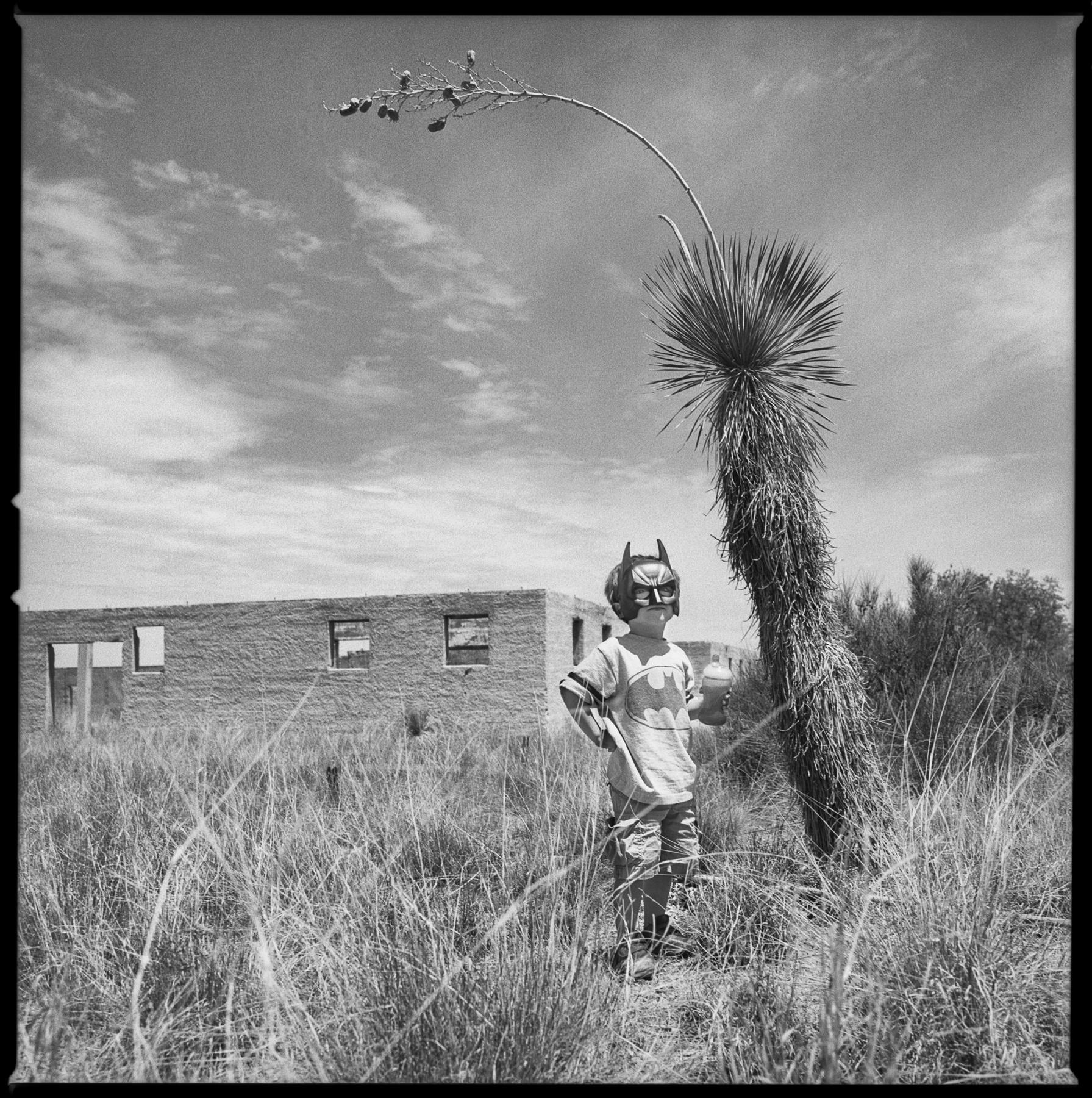 Batboy in the desert Marfa, Texas 2012