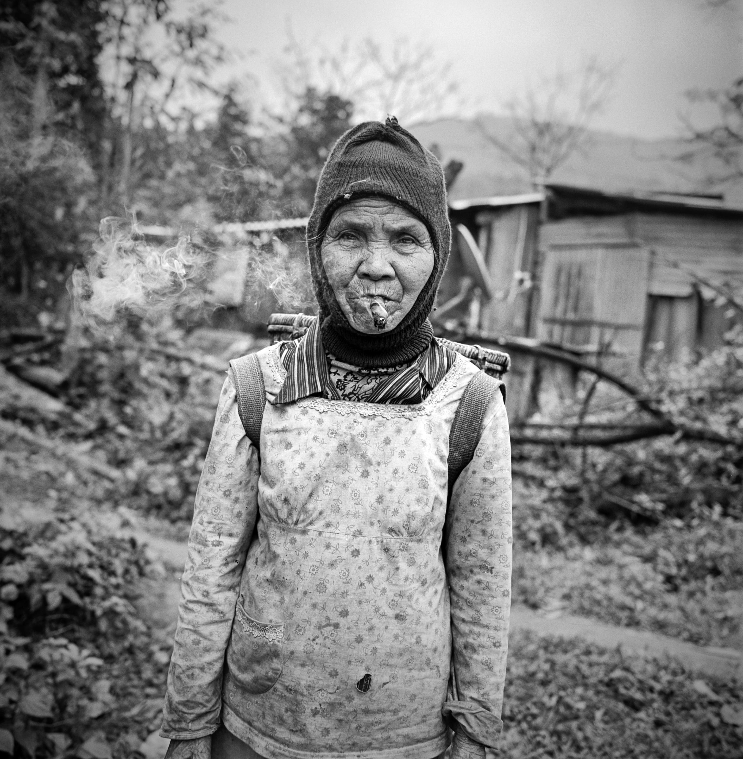 Woman on the trail Ho Chi Minh Trail, Vietnam, 2015