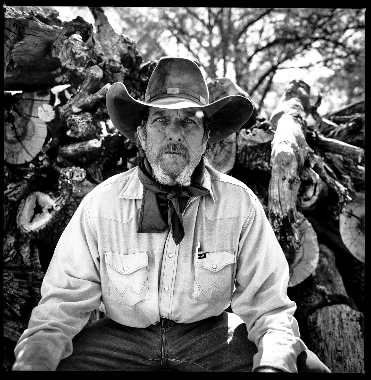 At a cowboy breakfast  Brewster County, Texas 2012   Made with Hasselblad 501c with Kodak Tri-X 400 b&w film