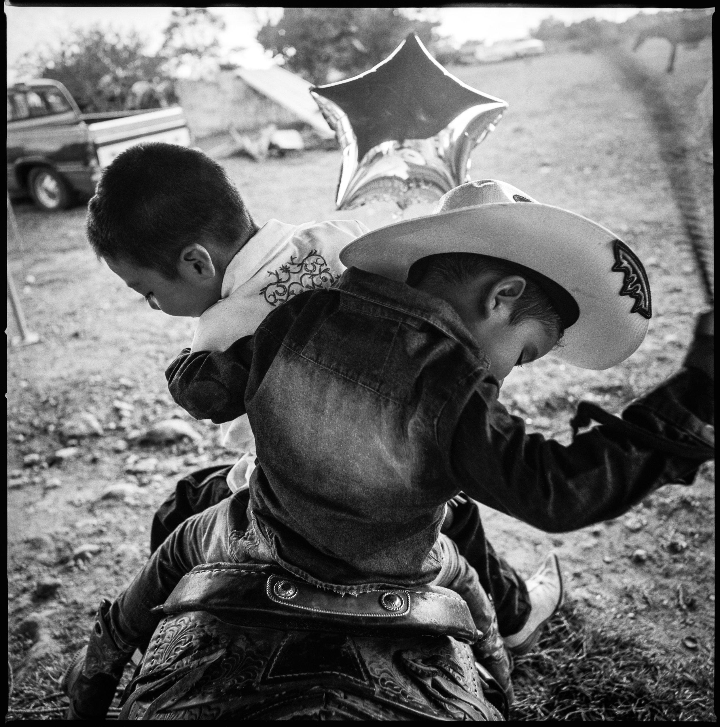 Kids practicing riding San Jose de Rodeo, Mexico, 2018