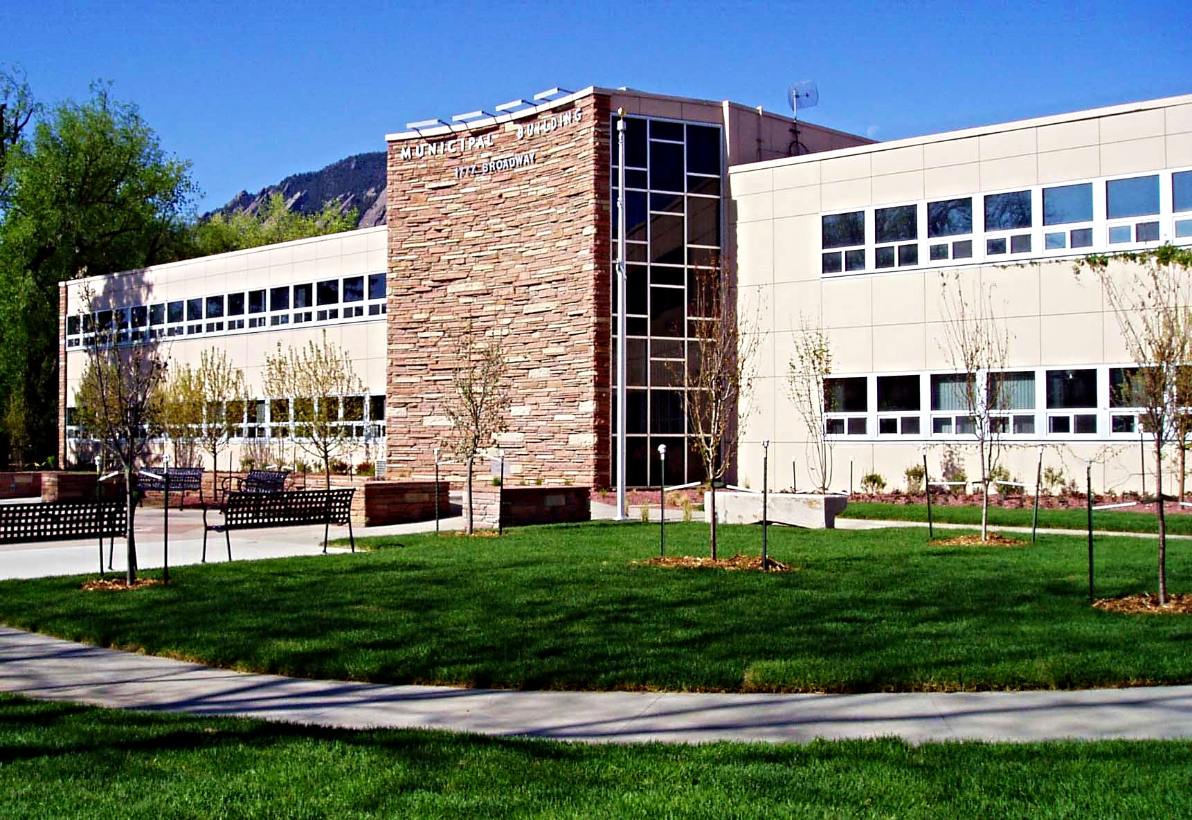 BOULDER MUNICIPAL BUILDING -  Replacement of site utilities, concrete flat work, artistic pillars and front entry.