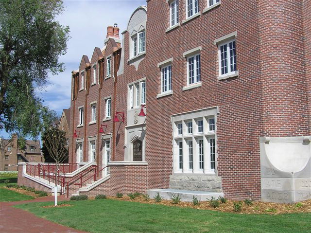UNIVERSITY OF DENVER - KAPPA SIGMA FRATERNITY HOUSE -  10,857 SF fraternity house including structural masonry, brick/limestone veneer, concrete structural slab floors, partially finished basement, structural steel and steel decking roof structure, copper roofing and siding.