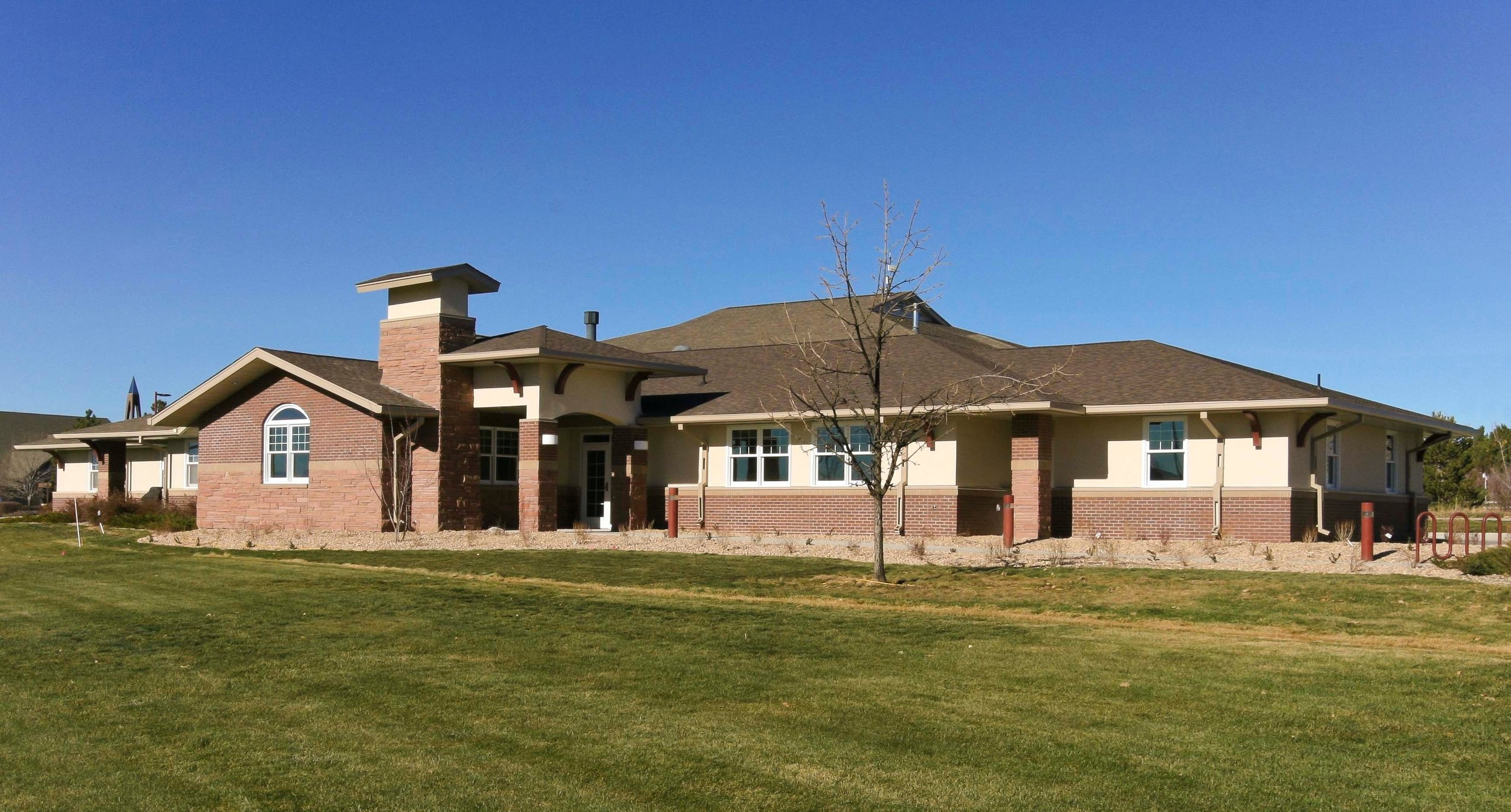 LOVELAND FIRE STATION ADDITION - A 4,199 SF renovation and addition to an existing 8,935 SF 1-story fire station including offices, exercise rooms, kitchen and bath remodel, and main entryway.