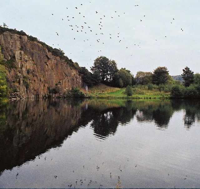 'The nature of outdoor climbing' 35mm photograph taken with my Pentax ME Super at Auchinstarry Quarry, Scotland.