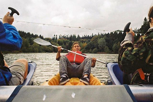 'Hitch a kayak' 35mm photograph taken with my Pentax ME Super.