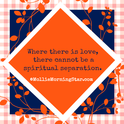 Where There is Love, There Cannot be a Spiritual Separation | Psychic Medium | Orange Navy | Love