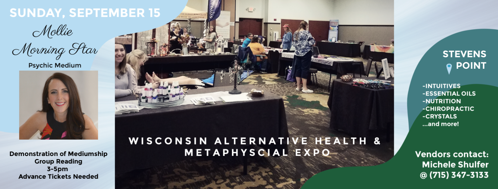 Wisconsin Alternative Health and Metaphysical Expo in Stevens Point, WI. Psychic Medium Mollie Morning Star