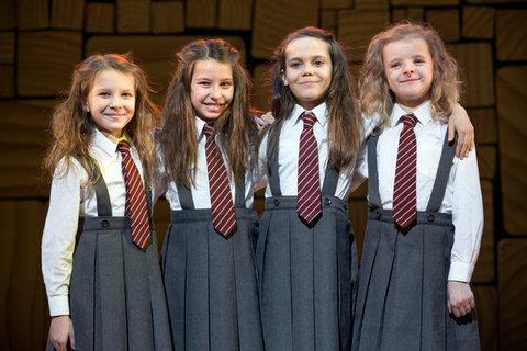 Sophia, Bailey, Oona, and Milly as Matilda