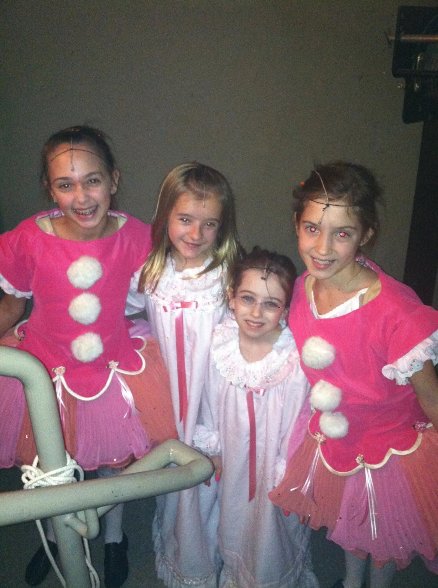 Abigail and Cast Backstage at the Grinch