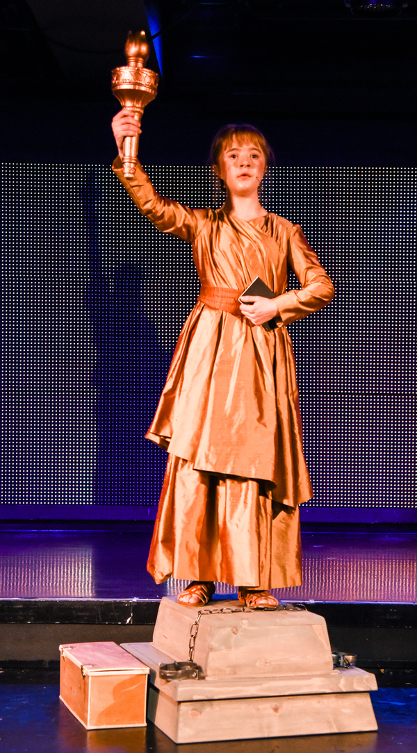 Abigail as Liberty in Liberty: A Monumental New Musical at 42West