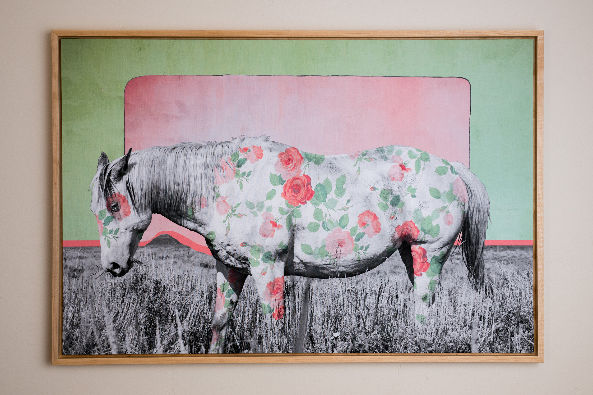 Horse No. 21 || Edition of 25 || Archival print on Belgian linen || Solid maple frame rubbed in Danish Oil