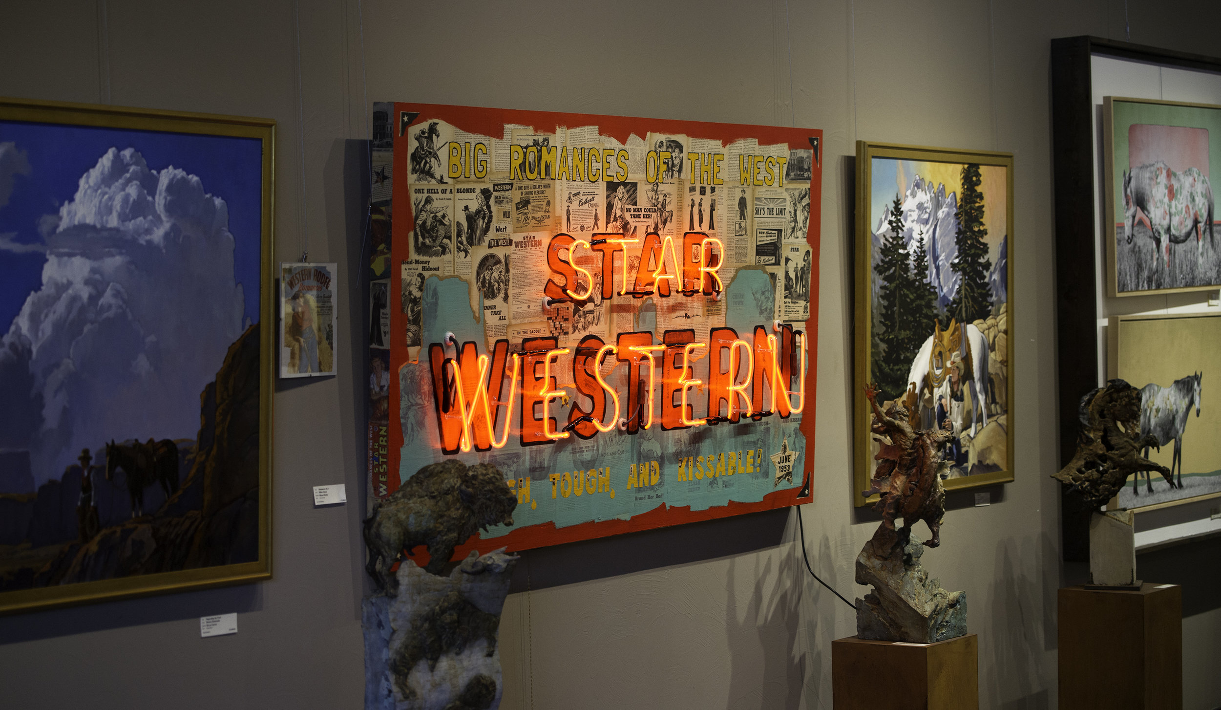 Star Western No. 1 - shown displayed in Creighton Block Gallery in Big Sky, Montana