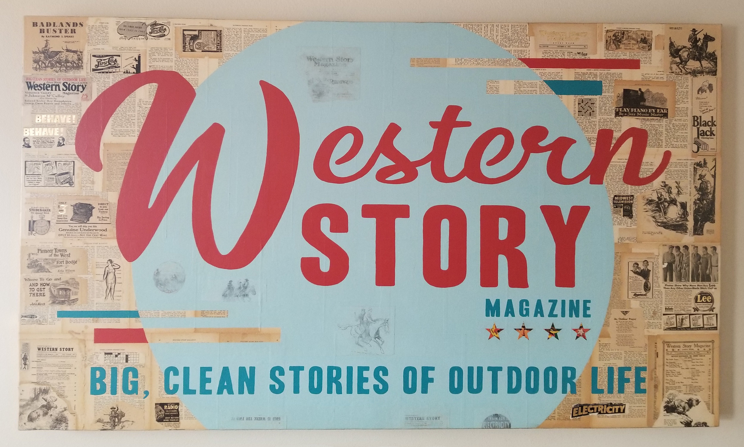"""Western Story No. 1"" // 72""x42"" // prior to having neon tubing installed…stay tuned for the final result!"