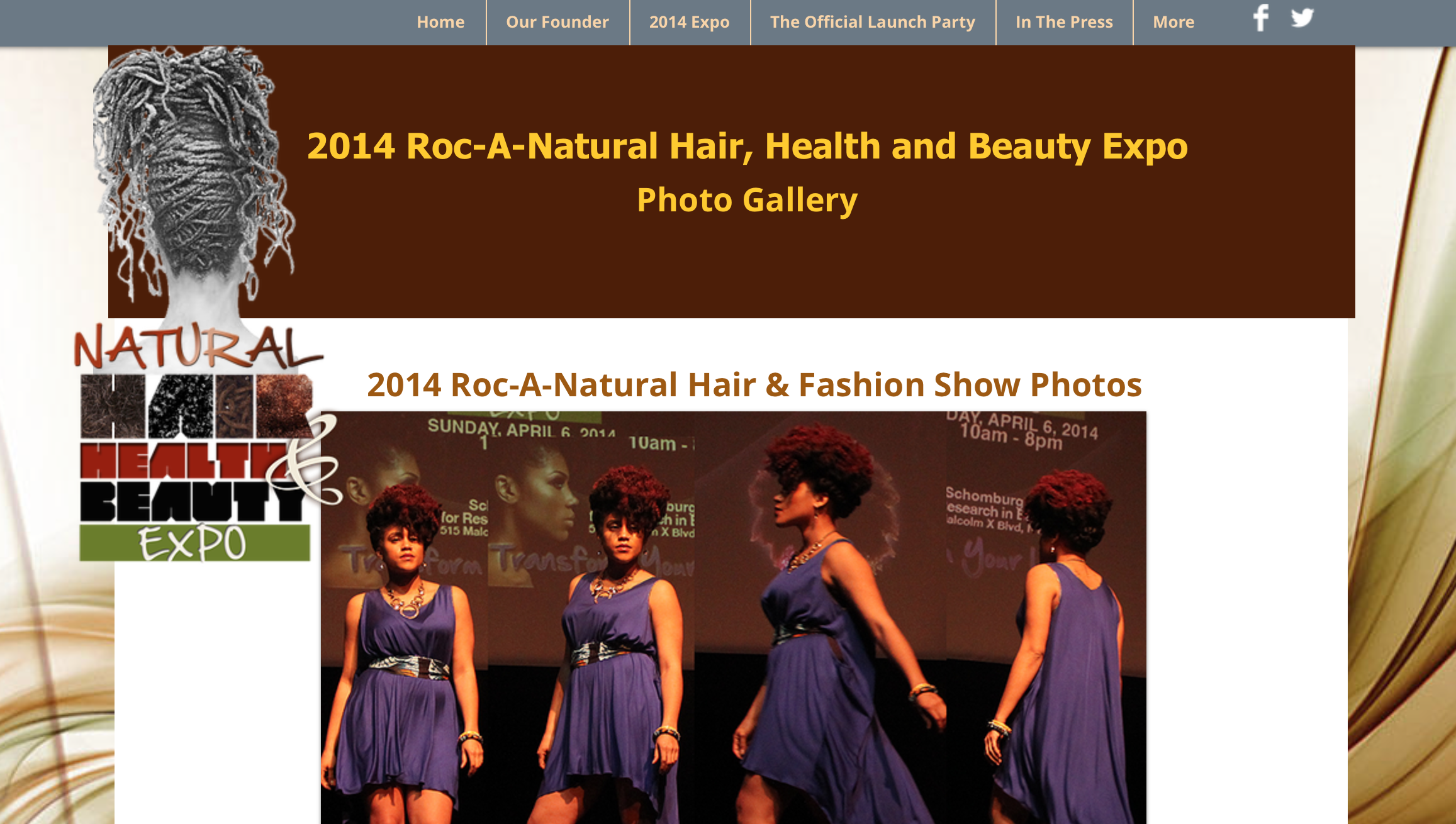 Roc a Natural Hair, Health and Beauty Expo    http://www.rocanatural.com