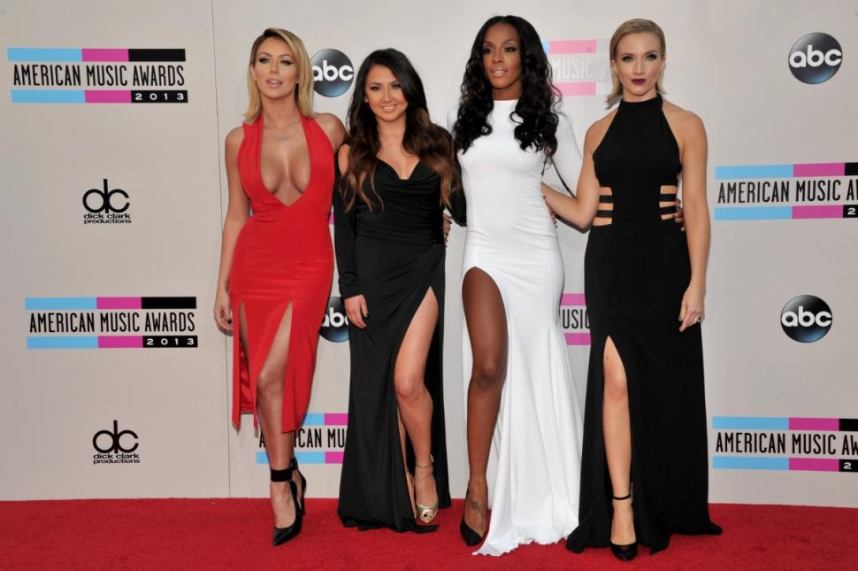 Danity Kane posing at the 2013 American Music Awards ( LESTER COHEN/WIREIMAGE).