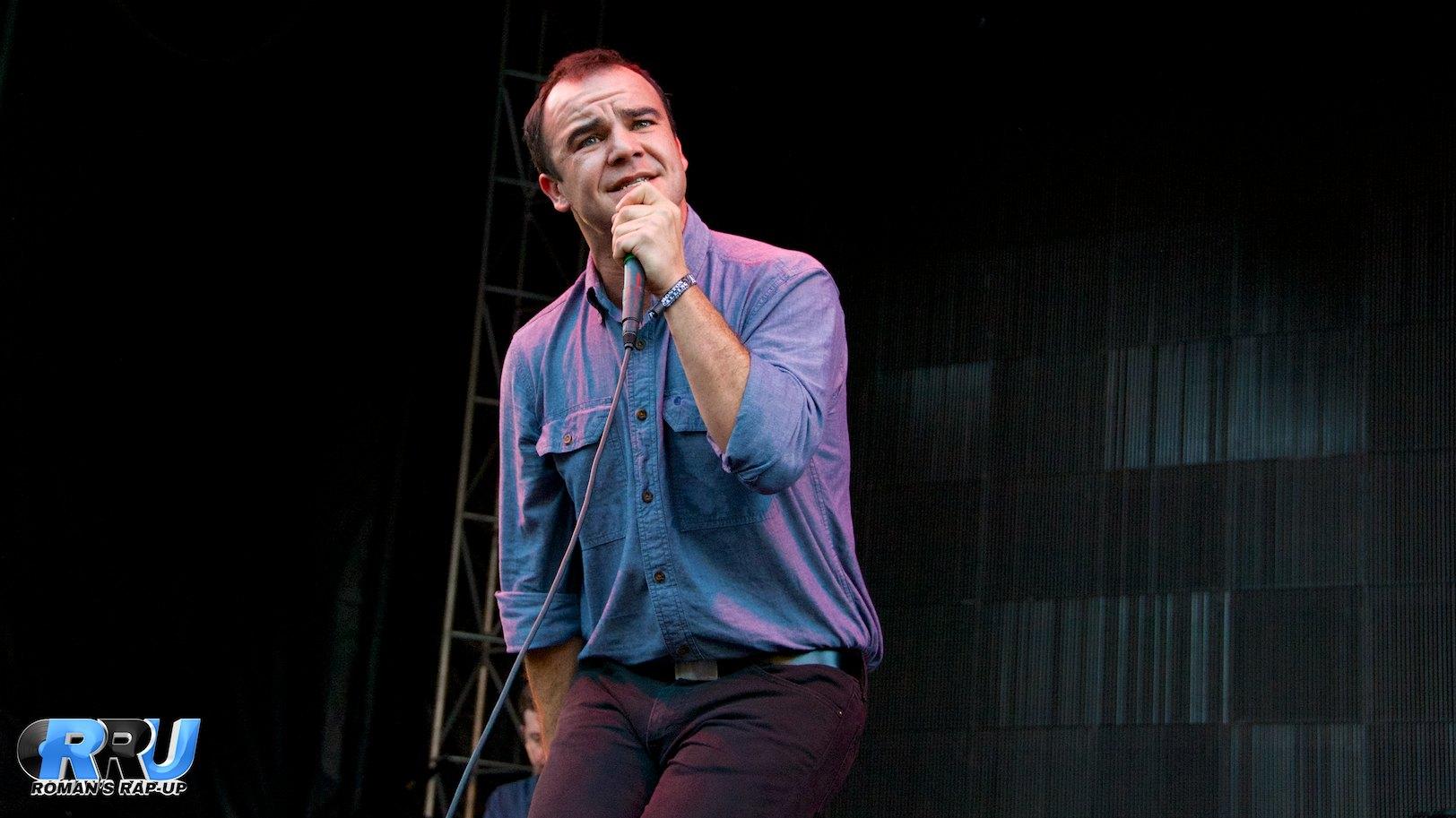 Future Islands performing at Boston Calling Music Festival on September 5th, 2014 (Benjamin Esakof/Roman's Rap-Up).