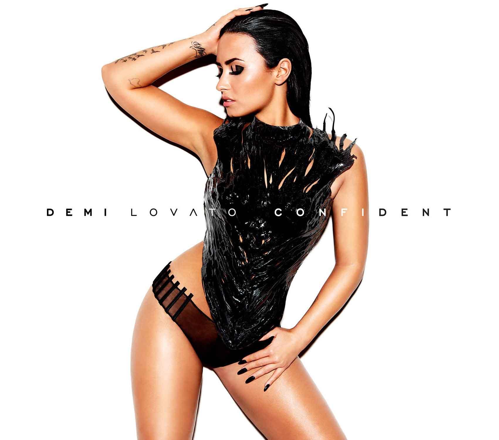 Confident  album cover (Hollywood Records/Island Records).