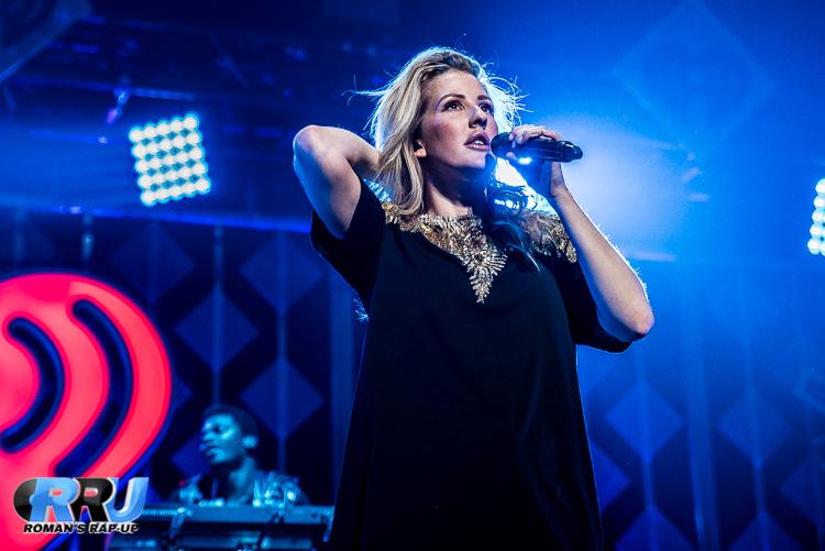 Ellie Goulding performs during Boston's Jingle Ball tour stop on December 11th, 2016 (Benjamin Esakof/Roman's Rap-Up).