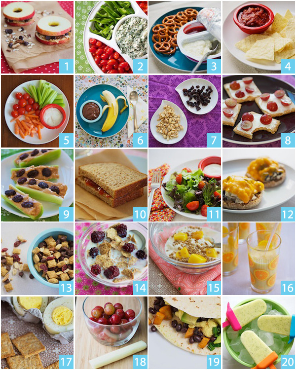 20 Quick and Healthy Snack Ideas