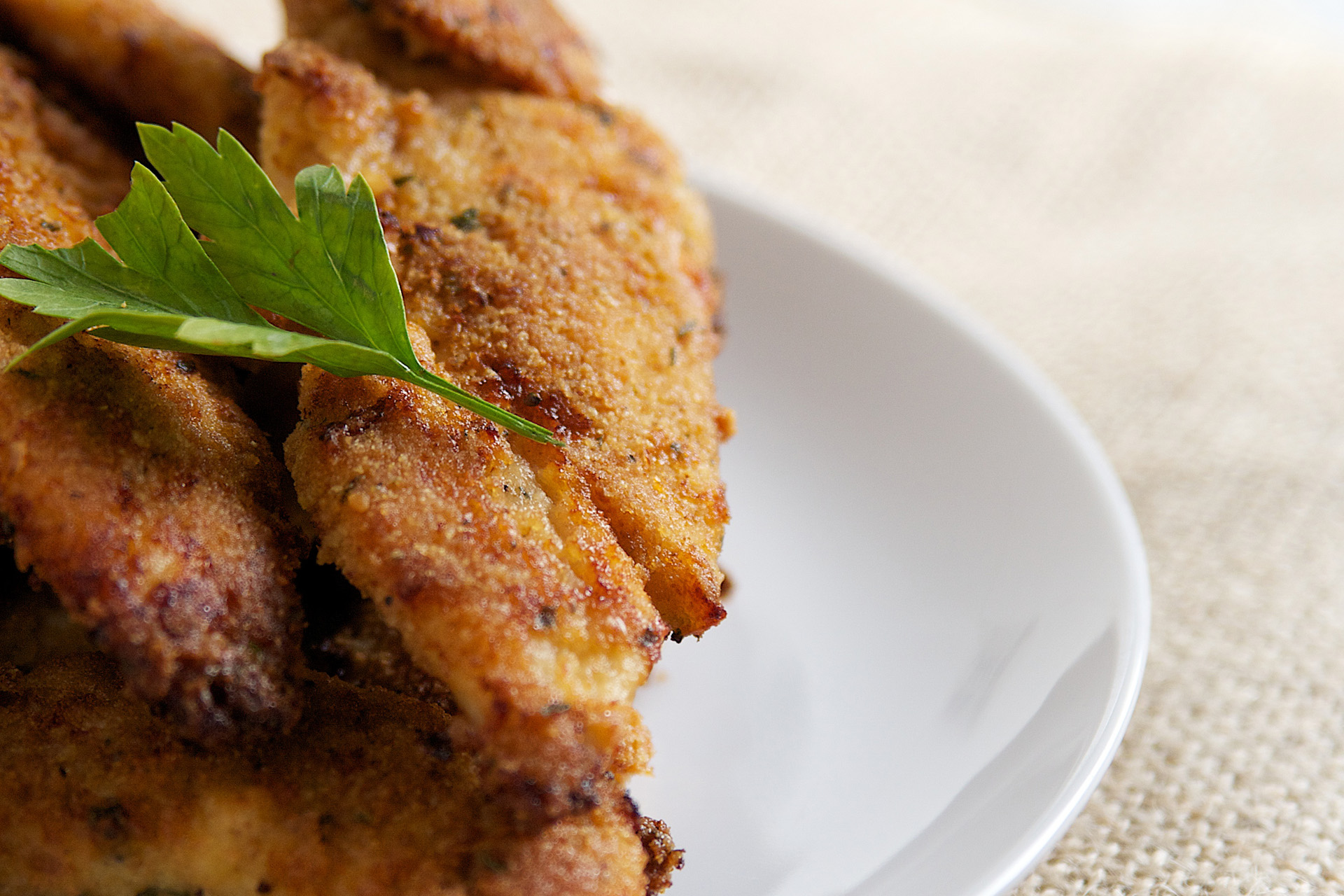 Baked Chicken Tender Side